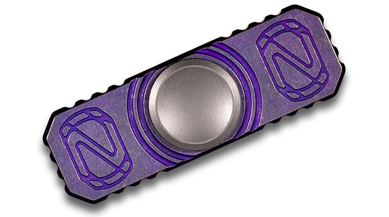 Stedemon Knife Company Z01 Purple Titanium Hand Spinner