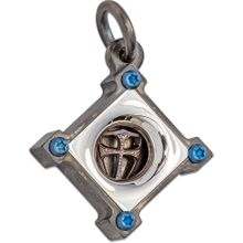 Steel Flame KillBox Silver Face Pendant