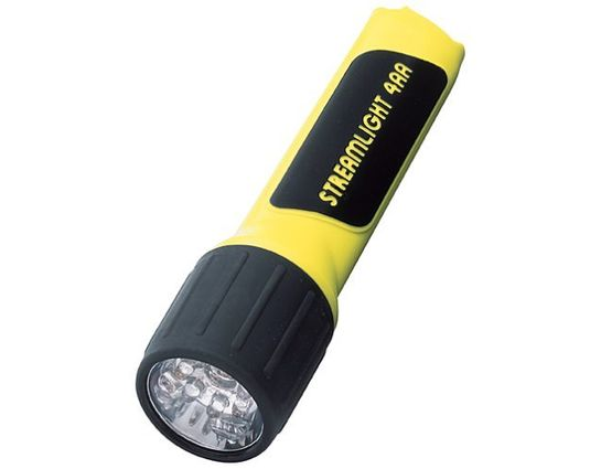 Streamlight Flashlight 7 White LEDs Uses 4 x AA Batteries Yellow 67 Lumens