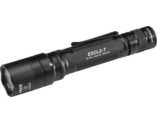 SureFire EDCL2-T Everyday Carry 2 Dual-Output LED Flashlight, Black, 1200 Max Lumens