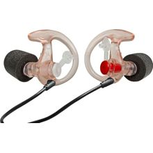 SureFire EP7 Sonic Defenders Ultra Filtered Foam-Tipped Earplugs, Medium, 1 Pair, Clear