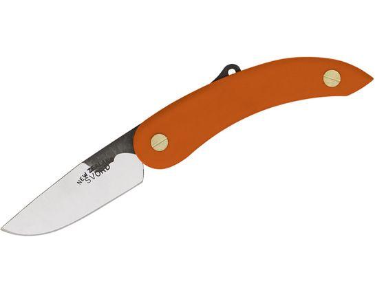 Svord Peasant Friction Folding Knife 3 inch Carbon Steel Blade, Orange Polypropylene Handles