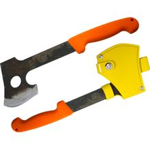 Svord Axe Hatchet 13-1/2 inch Overall, 3 inch Carbon Steel Blade, Orange Polypropylene Handle