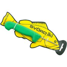 Svord Kiwi IKI Fish Spike 3 inch Carbon Steel, Green Polypropylene Handle