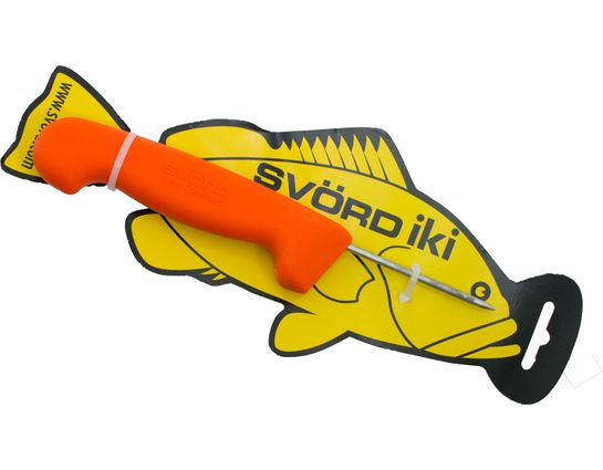 Svord Kiwi IKI Fish Spike 3 inch Carbon Steel, Orange Polypropylene Handle