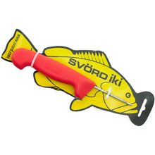 Svord Kiwi IKI Fish Spike 3 inch Carbon Steel, Red Polypropylene Handle