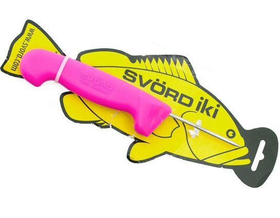 Svord Kiwi IKI Fish Spike 3 inch Carbon Steel, Pink Polypropylene Handle