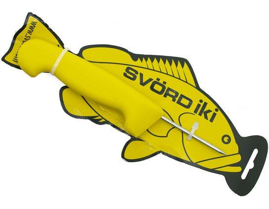 Svord Kiwi IKI Fish Spike 3 inch Carbon Steel, Yellow Polypropylene Handle