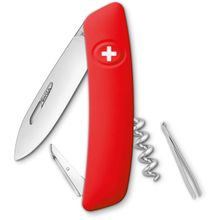 SWIZA D01 Swiss Pocket Knife Multi-Tool, Red, 2.95 inch Plain Blade