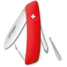 SWIZA D02 Swiss Pocket Knife Multi-Tool, Red, 2.95 inch Plain Blade