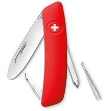 SWIZA J02 Junior Swiss Pocket Knife Multi-Tool, Red, 2.75 inch Plain Blade