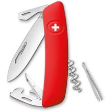 SWIZA D03 Swiss Pocket Knife Multi-Tool, Red, 2.95 inch Plain Blade
