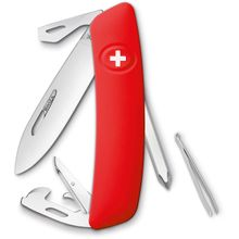 SWIZA D04 Swiss Pocket Knife Multi-Tool, Red, 2.95 inch Plain Blade