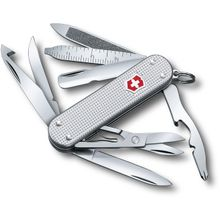Victorinox Swiss Army MiniChamp Alox Multi-Tool, Silver, 2.28 inch Closed