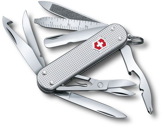Victorinox Swiss Army MiniChamp Alox Multi-Tool, Silver, 2.28 inch Closed