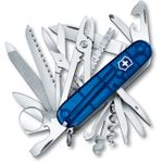 Victorinox Swiss Army SwissChamp Multi-Tool, Translucent Sapphire, 3.58 inch Closed (Old Sku 53507)