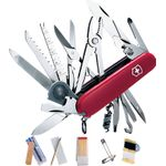 Victorinox Swiss Army SwissChamp SOS Multi-Tool, Red, 3.31 inch Closed (Old Sku 53511)