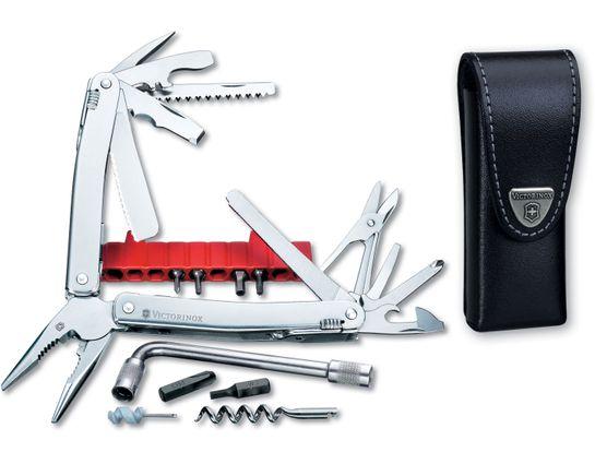 Victorinox Swiss Army SwissTool Spirit Plus 4.13 inch Closed, Leather Sheath