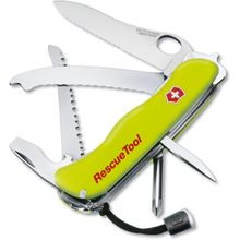 Victorinox Swiss Army RescueTool Multi-Tool, Yellow, 4.37 inch Closed (Old Sku 53900)