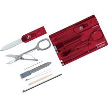Victorinox Swiss Army SwissCard Multi-Tool, Translucent Ruby (Old Sku 53927)