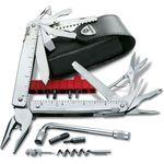 Victorinox Swiss Army SwissTool Plus Multi-Tool 4.5 inch Closed, Black Leather Sheath
