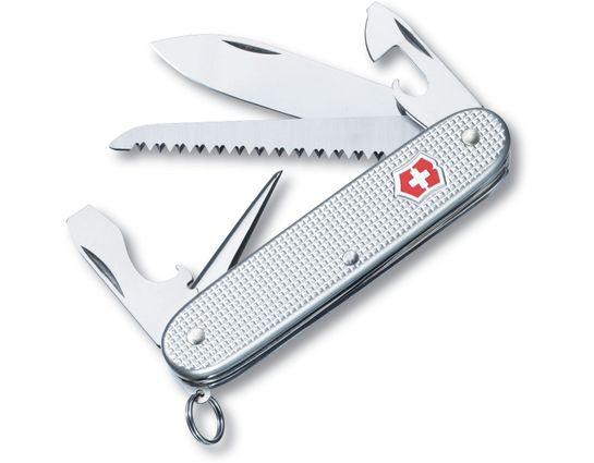 Victorinox Swiss Army Farmer Multi-Tool, Silver Alox, 3.58 inch Closed (Old Sku 53964)