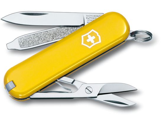 Victorinox Swiss Army Classic SD Multi-Tool, Yellow, 2-1/4 inch Closed