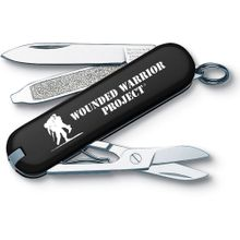 Victorinox Swiss Army Wounded Warrior Project Classic SD Multi-Tool, Black, 2.25 inch Closed