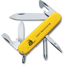 Victorinox Swiss Army Tinker Multi-Tool, Yellow, Gadsden Flag, Don't Tread on Me, 3.58 inch Closed