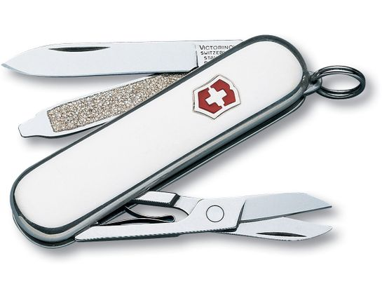 Victorinox Swiss Army Classic SD Multi-Tool, Sterling Polished, 2.25 inch Closed (Old Sku 53039)