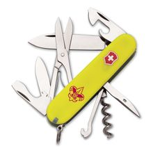Victorinox Swiss Army 54389 Climber Multi-Tool, Boy Scouts of America, 3-5/8 inch Yellow Handles (Old Sku 54389)