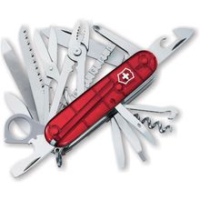 Victorinox Swiss Army SwissChamp Multi-Tool, Translucent Ruby, 3.58 inch Closed