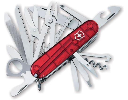 Victorinox Swiss Army SwissChamp Multi-Tool, Translucent Ruby, 3.58 inch Closed