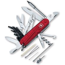 Victorinox Swiss Army Cybertool 34 Multi-Tool, 3-1/2 inch Ruby Handles