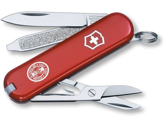 Victorinox Swiss Army Classic SD Multi-Tool, Red, Eagle Scout, 2.28 inch Closed (Old Sku 54401)