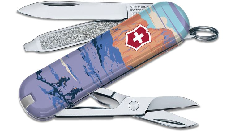 Victorinox Swiss Army Ranger of the Lost Art Classic SD Limited Edition 2020 Multi-Tool, Rocky Mountain, 2.25 inch Closed
