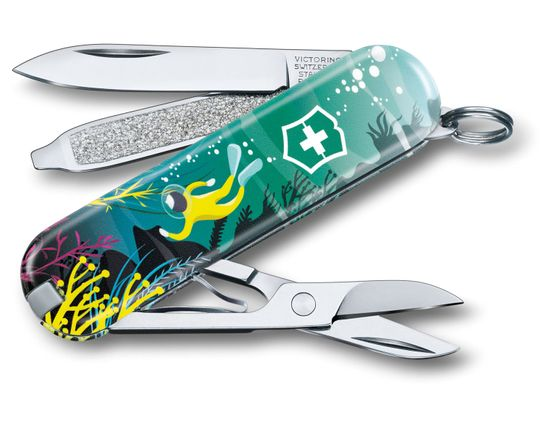 Victorinox Swiss Army 2020 Contest Classic SD Limited Edition Multi-Tool, Deep Dive, 2.25 inch Closed