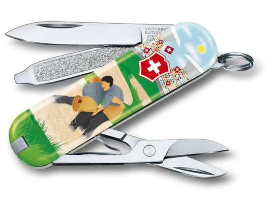 Victorinox Swiss Army 2020 Contest Classic SD Limited Edition Multi-Tool, Swiss Wrestling, 2.25 inch Closed
