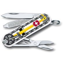 Victorinox Swiss Army 2020 Contest Classic SD Limited Edition Multi-Tool, Bike Ride, 2.25 inch Closed
