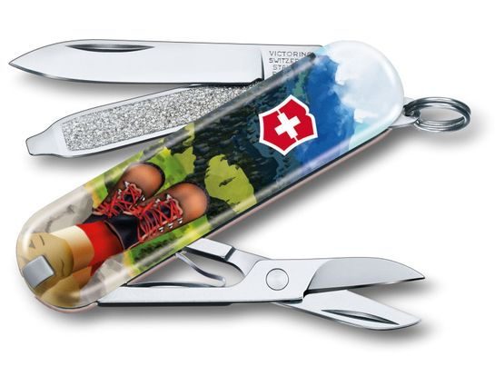 Victorinox Swiss Army 2020 Contest Classic SD Limited Edition Multi-Tool, I Love Hiking, 2.25 inch Closed