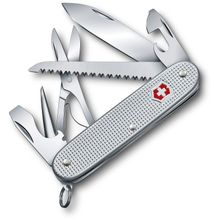 Victorinox Swiss Army Farmer X Multi-Tool, Silver Alox, 3.66 inch Closed