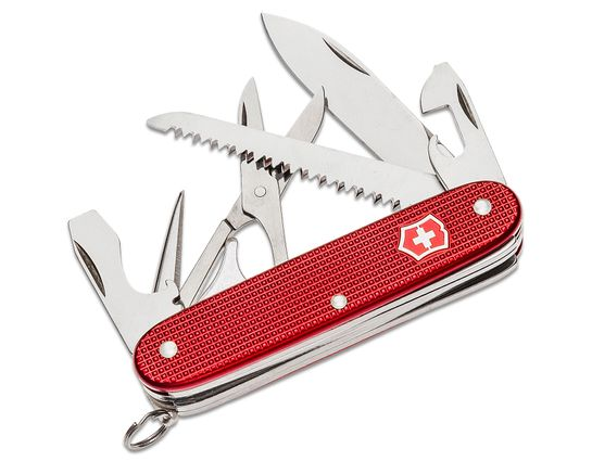 Victorinox Swiss Army Farmer X Multi-Tool, Red Alox, 3.66 inch Closed, KnifeCenter Exclusive