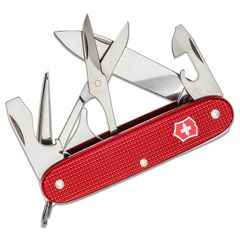 Victorinox Swiss Army Pioneer X Multi-Tool, 3.7 inch Red Alox Aluminum Handles, KnifeCenter Exclusive