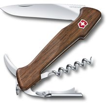 Victorinox Swiss Army Wine Master, Walnut Wood, 5.1 inch Closed, Leather Pouch