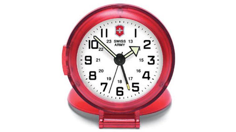 Swiss Army Victorinox Travel Alarm Clock w/Red Face & Snooze