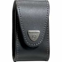 Victorinox Swiss Army Pocket Champ XLT Pouch- Black Leather (Old Sku 33240)