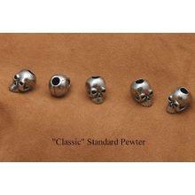 Schmuckatelli Pewter Classic Skull Bead