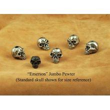 Schmuckatelli Pewter Jumbo Emerson Skull Bead