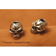 Schmuckatelli Pewter Emerson Skull Bead