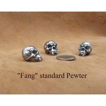 Schmuckatelli Pewter Fang Skull Bead